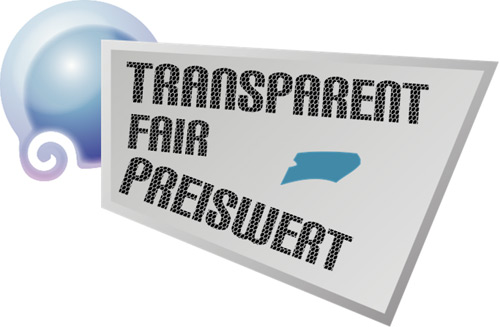 transparent fair preiswert